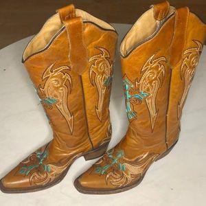 CIRCLE G Cowboy Boots Sz 6